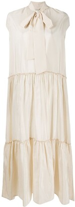 Ballantyne Pussy Bow Tiered Dress