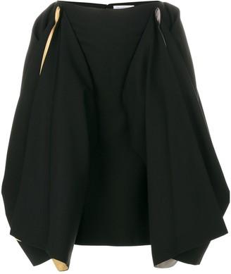 J.W.Anderson draped contrast colour skirt