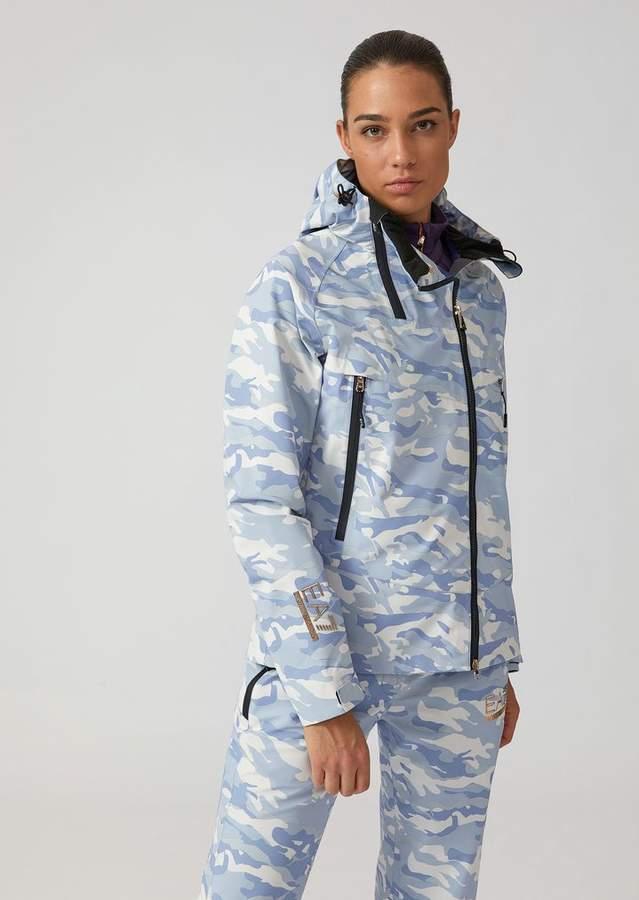 Emporio Armani Ea7 Technical Ski Jacket With Camouflage Print