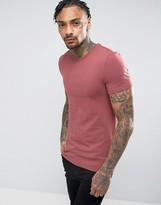 Asos Extreme Muscle Fit Crew Neck T-Shirt In Red