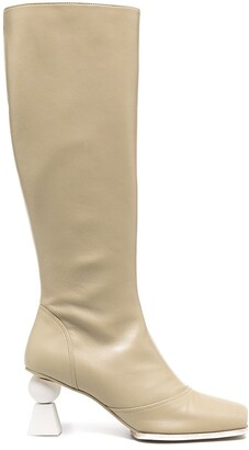 Jacquemus Olive knee boots