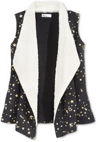 Epic Threads Girls' Faux-Fur Metallic-Print Vest, Only at Macy's