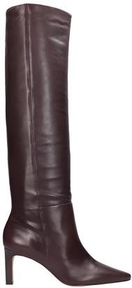 Zimmermann High Heels Boots In Bordeaux Leather