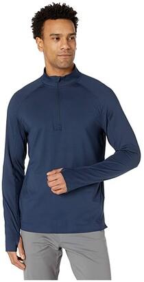 Rhone Courtside 1/4 Zip (Navy) Men's Clothing