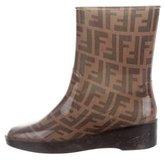 Fendi Zucca Rain Ankle Boots