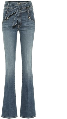 Veronica Beard Giselle high-rise flared jeans