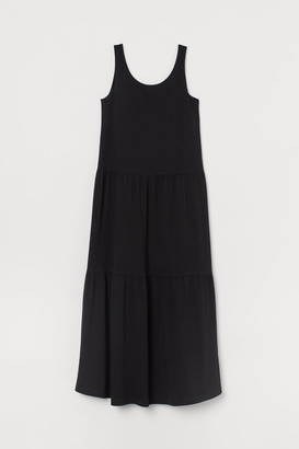 H&M Ankle-length Jersey Dress - Black