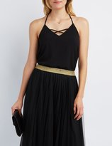 Charlotte Russe Strappy Lattice Tank Top