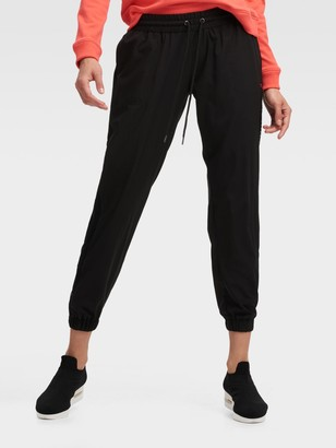 DKNY Women's Jogger With Mesh Insert - Black - Size S