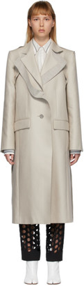 Maison Margiela Beige Deconstructed Coat