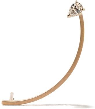 Sardo 18kt Rose Gold Curved Earring
