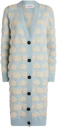 Lanvin Moutons Oversized Textured Cardigan