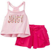 Juicy Couture Strappy Tank & Ruffle Short Set (Toddler Girls)