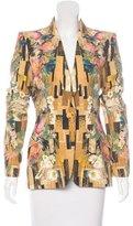 Alexander McQueen Structured Hummingbird Print Blazer