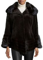 Gorski Sheared Mink Fur Jacket, Brown