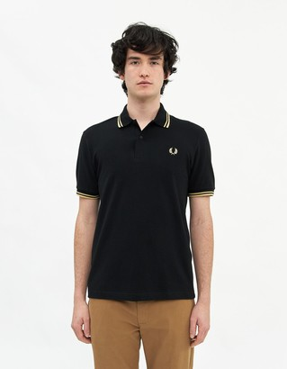Fred Perry Men's Twin Tipped Polo Shirt in Black, Size 36 | 100% Cotton