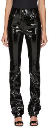 we11done Black Enamel Trousers