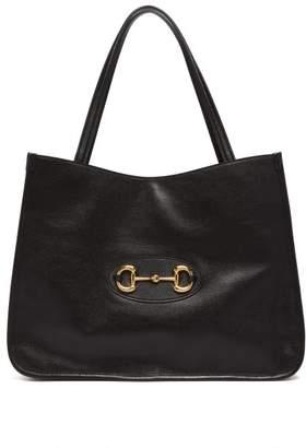 Gucci 1955 Horsebit Leather Tote Bag - Womens - Black