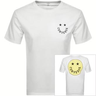 Converse Smiley Logo T Shirt White