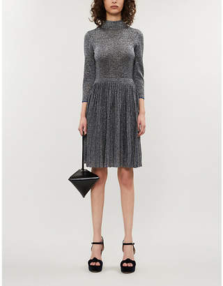 Ted Baker Noaleen metallic stretch-knit midi dress