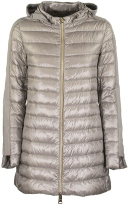 Herno Long-sleeved Down Jacket With Side Band On The Sleeves