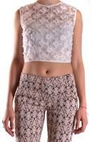 Pinko Women's White Polyester Top.