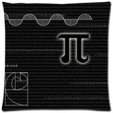 "Pillowcase 2421 Pi Square Zippered Pillowcase Throw 18"" x 18"" (One side)"