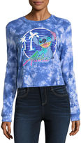 Freeze Long Sleeve Crew Neck Lilo & Stitch Graphic T-Shirt