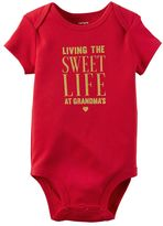 Carter's Baby Girl Glittery Family Graphic Bodysuit