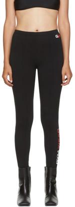 Balenciaga Black Gym Wear Foot Leggings