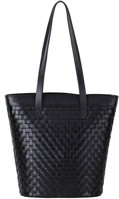 Most Wanted Design by Carlos Souza Braided Leather Tote Bag