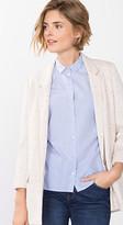 Esprit OUTLET textured twill blazer w colourful nubs