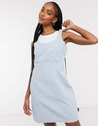 Kickers relaxed mini pinafore dress with embroidered logo