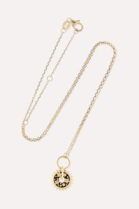 Foundrae Dark Blossoms 18-karat Gold And Enamel Necklace