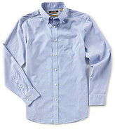 Roundtree & Yorke Gold Label Trim Fit Long-Sleeve Striped Non-Iron Sportshirt