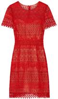 Marchesa Guipure Lace Mini Dress