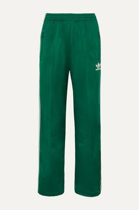 adidas Firebird Striped Satin-jersey Track Pants - Green