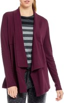 Calvin Klein Drape Front French Terry Jacket With Ribbed Knit Sleeves