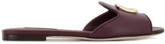 Dolce & Gabbana Logo Plaque Slide Sandals