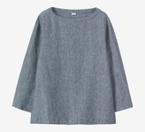 Toast Fine Stripe Easy Linen Top