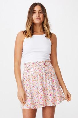 Supre Ariana Shirred Waist Mini Skirt