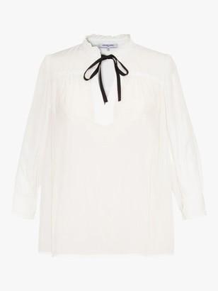 Gerard Darel Nella Tie Neck Blouse, White