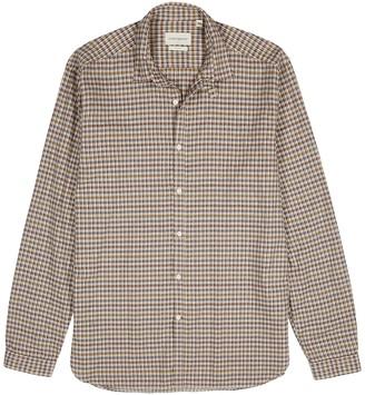 Oliver Spencer Clerkenwell checked cotton-blend shirt
