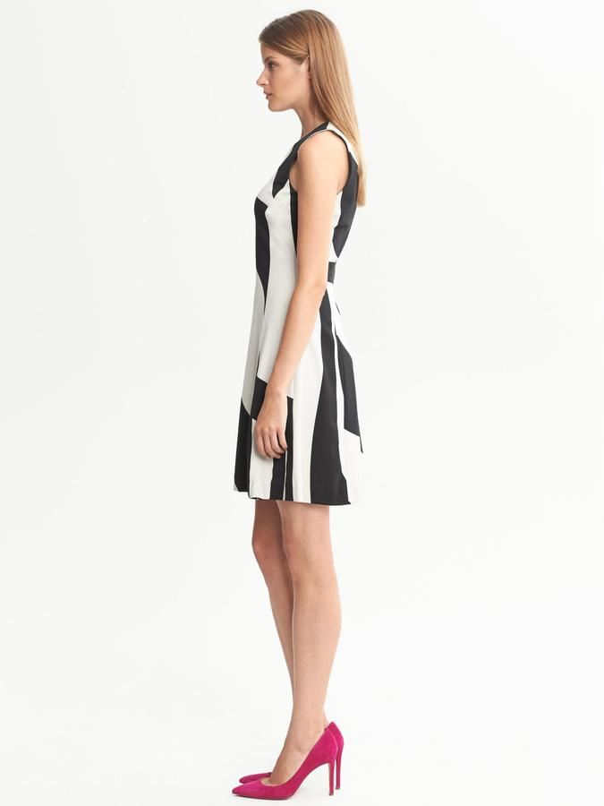 Banana Republic Bold Print Fit-and-Flare Dress