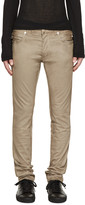 Balmain Beige Cotton Biker Jeans