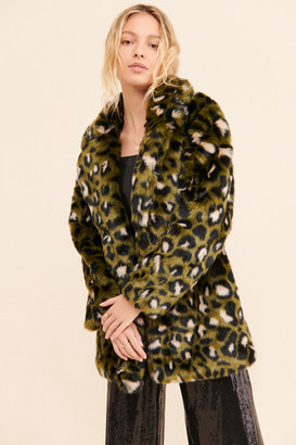 Ichi Joplin Faux Fur Coat