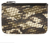 Pierre Hardy Camocube-print Leather Pouch