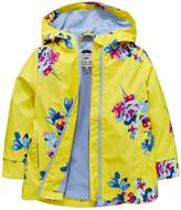 Joules Girls Yellow Raindance Waterproof Rubber Coat