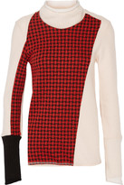 3.1 Phillip Lim Collage checked jacquard-paneled wool-blend turtleneck sweater