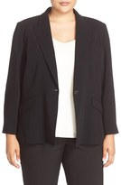 Louben Plus Size Women's One-Button Suit Jacket